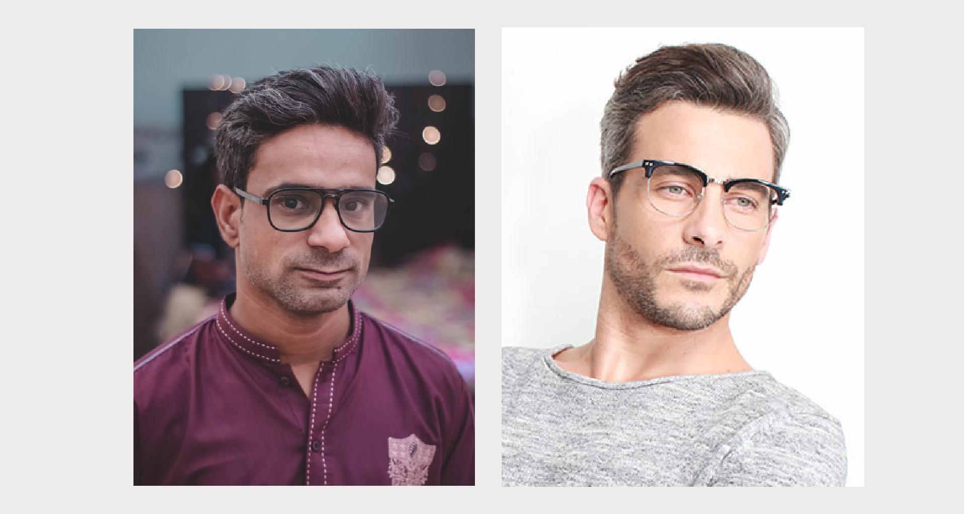 óculos podem chamar a atenção para algum terço do seu rosto